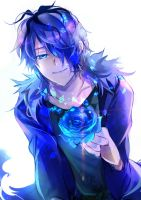 Garry: Holder of the Blue Rose by Pewdie2pHetalia
