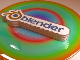 Blender Cake by Morichalion