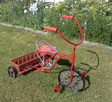 Tricycle Planter Painted (9) by LadyDracos