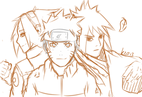 Team 7 Sketch. by Kozakura-chan