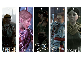 Dragon Age bookmarks 2 by SW-13