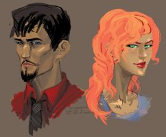 Potts and Stark by tigr3ss