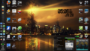My Desktop Experiments!! With Rainmeter [8] by Rhyz66