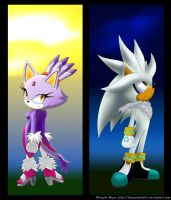 Silver and Blaze-Day and Night by TheSnowDrifter