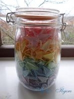 Jar of 500 cranes by Ilyere