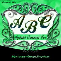 Alphabet Ornament Free by weezya