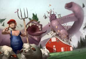 Giant Worm Invasion by KangJason