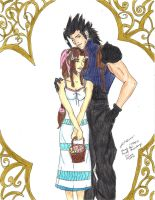 Zack and Aerith by scorchalives