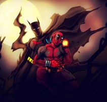 BATMAN and DEADPOOL by suspension99