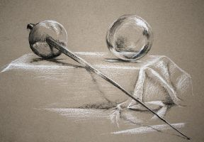rapier and glass ball by silver-spurs