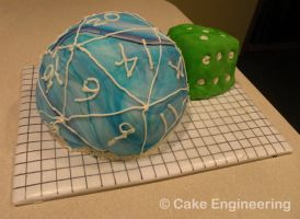 DnD 20d dice cake by cake-engineering
