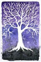 I heart trees - purple by Kimbuddy666