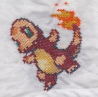 Pokemon Napkin Charmander by RetroStitch