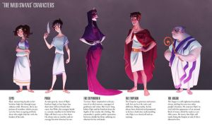 The Wild Swans - Character Lineup by drawnbydana