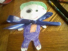 the joker paper rag doll by GothicTaco198