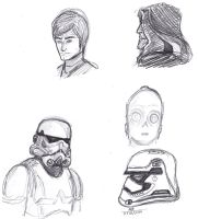 More Star Wars Sketches!! by ConstantM0tion