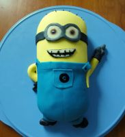 Despicable me, Minion-cake by the-cat-eared-one