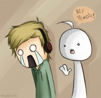 HEY PEWDIE - PewDiePie and Cry by KyuuNatsuki