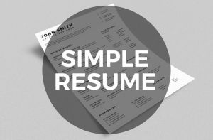 Simple Resume CV with Business Card by nazdrag