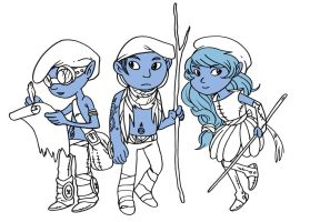 Mononoked Smurfs by secondlina