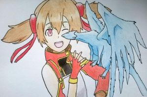 Silica and Pina by wingednekoX