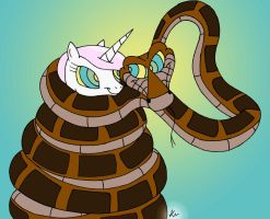 Kaa and Fleur by lol20