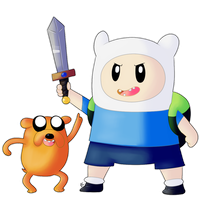 Chibi Finn and Jake by Blue-Chica