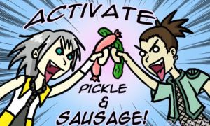 Sausage+Pickle ACTIVATE by darkwater-pirate