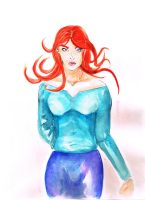 Red Headed Girl - lo res by JeffGraham-Art