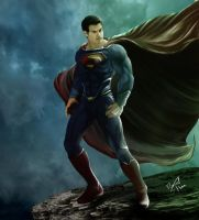Superman-the man of steel by Danthemanfantastic