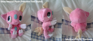 Shiny Sneasel Plush (Pokemon Time Styled) by InkyBlackKnight