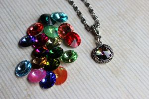 Swarovski Twigs and Leaves Necklace Color Choice by artistiquejewelry