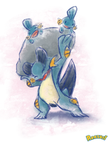 Swampert watercolors by renzus