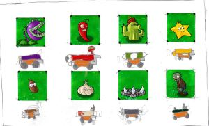 Plants vs. Zombies pot racing2 by con1011