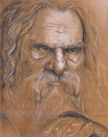 Portrait of Gimli by Tanathiel