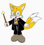 Tails as Harry Potter by Wanda92