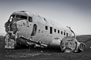 Plane Wreck, Iceland by cwaddell