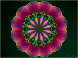 Pink Mandala Flower by ScraNo