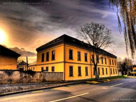 Yellow Building by Martincevic