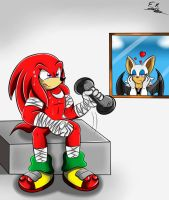 Knuckles Lifting Weighs by Shadow4one