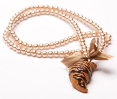 Chocolate Drizzled Croissant Necklace by SweetSugaRush