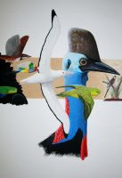 'Flight for Survival' - detail by gouldian-finch