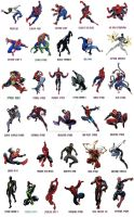 Spiderman Costume changes over years (Earth616) by funnyberserker
