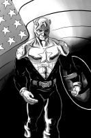 Captain America greytones by thelearningcurv