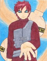 Gaara (color pencil) by kitkatnis