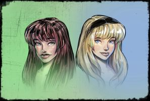 Mary Jane and Gwen by famorphing