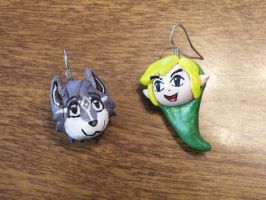 Toon Link Earrings by lemon-stockings