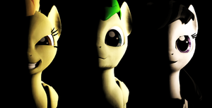 gmod - Three ponies by Stormbadger