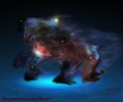 Ignotis the Nebula Horse by DreamWithinTheHeart