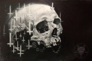 skull crosses by AndreySkull